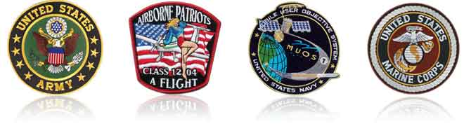 Custom Embroidered Military Patches
